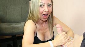 blond granny gives a good blow job