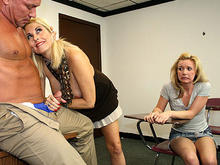 Milf and Step Daughter Gives Handjob