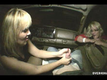 Drunk Mom and Teen Public Handjob In Car