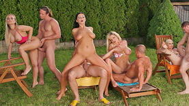 nice european milfs get group fuck