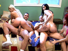 A 3 Girl Gang Bang