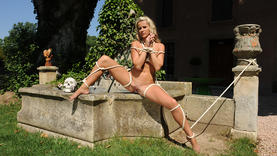 european milfs in sexy lingerie take cum in mouth outside