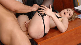 milf in sexy lingerie ass fucked in the office