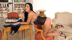 european in sexy lingerie squirting