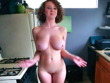 Milf with perfect big natural tits