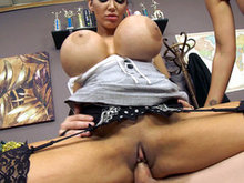 Busty bitches Amy Anderssen and Nikki Benz fucking one lucky student