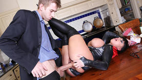 horny kerry louise blows cock