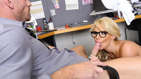 blonde milf takes cock so deep
