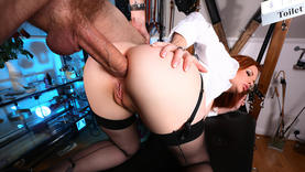 big tits mature taking cock in her ass