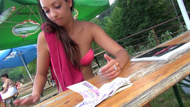 naughty teen squirt outside