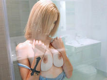 Blonde Student Gets All Wet
