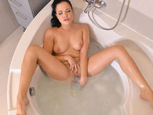 She Takes Her Toys In The Tub - A Dildo Is Her Desire