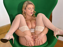 Color Of Hope - Voluptuous Blonde Masturbates In Chair