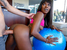 Ana Foxxx stretches more than just her muscles