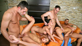 shaved s get group fuck