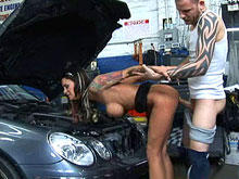 Car Shop Cum Shot