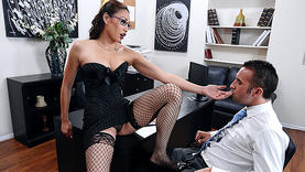 big tits asian in glasses in rough sex