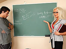 Student Take Advantage Of His Hot Professor