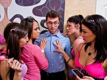 Kristina Rose, Ann Marie Rios, Andy San Dimas, April O'Neil & James Deen in My Sisters Hot Friend