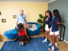 Skin Diamond, Leilani Leeane, Ana Foxxx & Johnny Sins in 2 Chicks Same Time